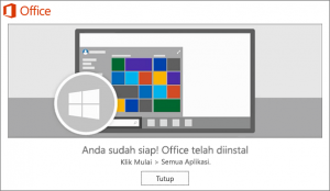 Microsoft Office 2019 telah Terinstall